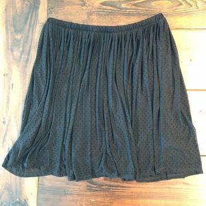 NWT Torrid Black Polka Dot Skirt